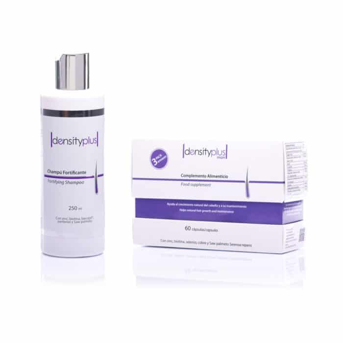 Density Plus Man - 3 Months Pack + Fortifying Shampoo