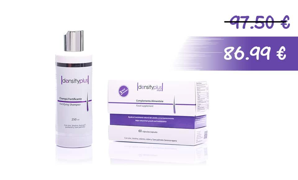 Fortifying Shampoo + Density Plus Man Pack 3 meses