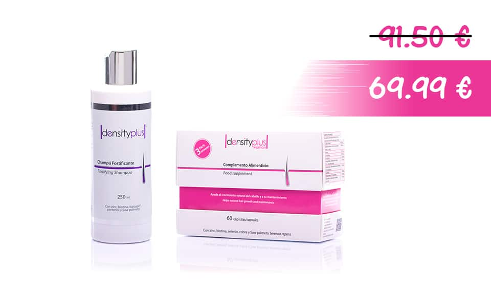 Champú Fortificante + Density Plus Woman Pack 3 meses